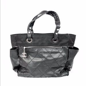 Chanel Quilted Coated Canvas Paris Biarritz Tote